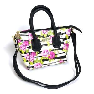 [Betsey Johnson] NWOT Floral Striped Purse